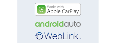 Apple CarPlay, Android Auto, WebLink 로고